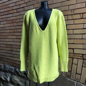 Lane Bryant lime green v neck sweater 18/20